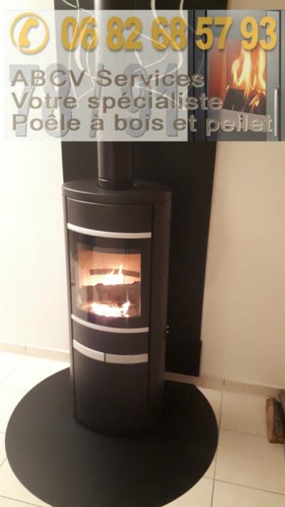 un poele bois beautiful pole bois avec banc kw vario with. Black Bedroom Furniture Sets. Home Design Ideas