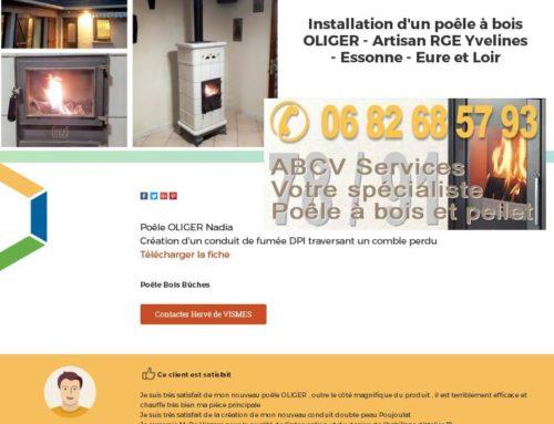 Installation d'un poêle Oliger à Boissy Saint Léger